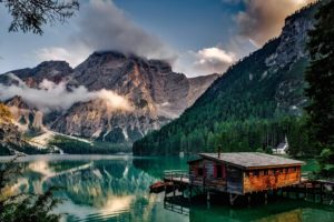 Lake Pragser, Italy, Landscape, Lake