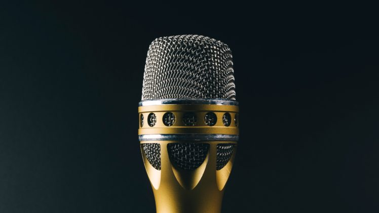 Microphone Music Gold Silver Hd Wallpapers Desktop And Mobile