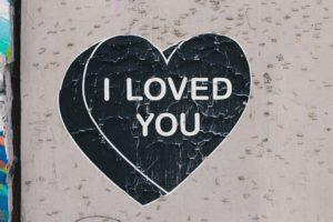 graffiti, Street art, I loved you