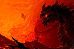 artwork, Dragon, Fire
