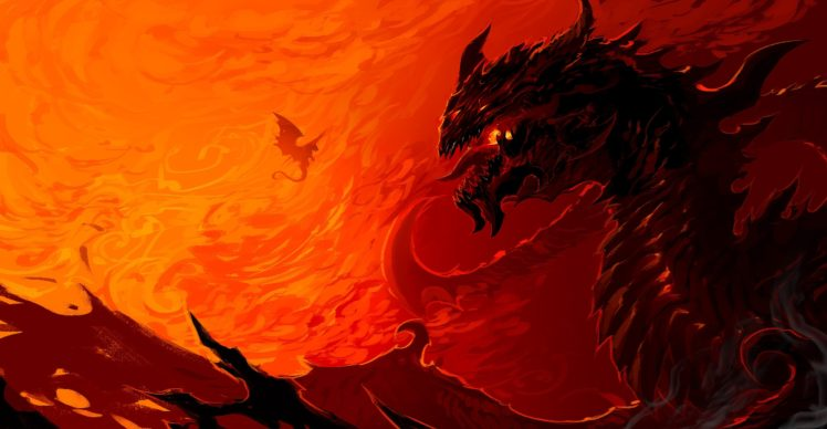 artwork, Dragon, Fire HD Wallpaper Desktop Background
