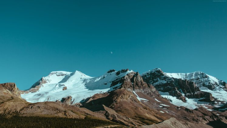 Canada, Mountains, Snow, Nature, Landscape HD Wallpaper Desktop Background