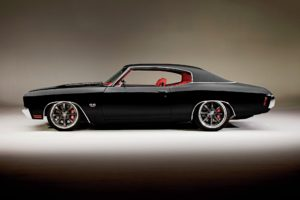 vehicle, Car, Chevrolet Chevelle, Black cars, American cars, Lowrider