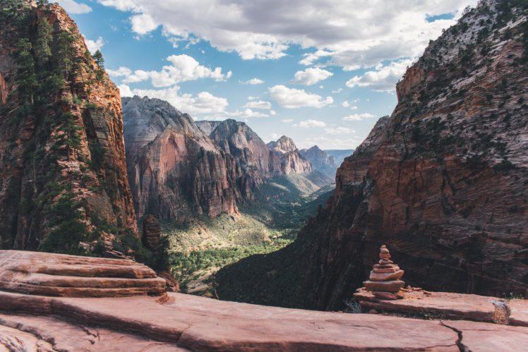 nature, Trees, Rock, Landscape HD Wallpaper Desktop Background