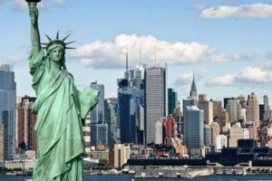 New York City, Statue, Cityscape, Statue of Liberty