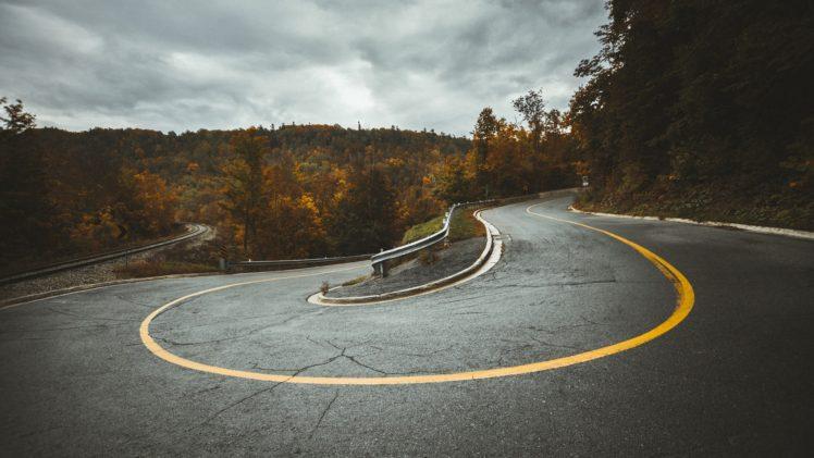 road, Hairpin turns, Railroad track HD Wallpaper Desktop Background