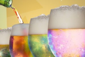 drinking glass, Beer, Colorful