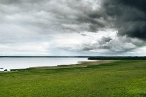 clouds, Sky, Landscape, Lithuania, Lake, Depth of field