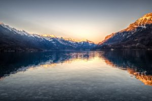 Lake Brienz, Switzerland, Landscape, Reflection, Nature