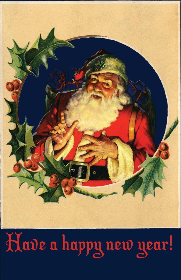 vintage, Holiday, Santa HD Wallpaper Desktop Background