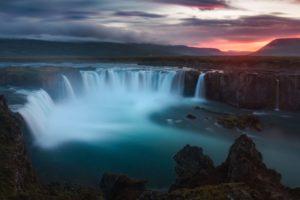 waterfall, Iceland, Landscape