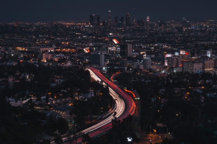 city, Lights, Los Angeles HD Wallpaper Desktop Background