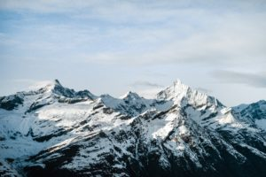 mountains, Snow, Nature