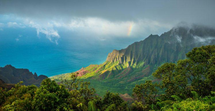 Kalalau Trail Hawaii Kauai Pacific Ocean Clouds Mountains Hd Wallpapers Desktop And Mobile Images Photos