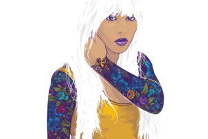 women, Minimalism, White background, Simple background, Artwork