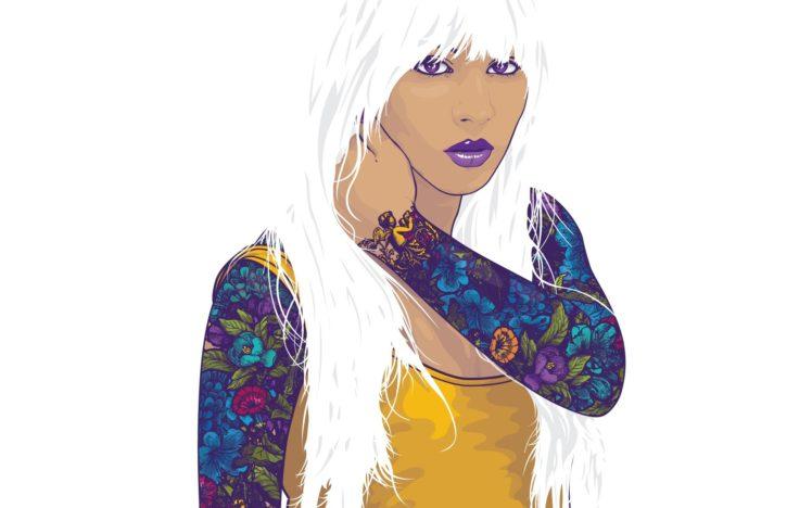 women, Minimalism, White background, Simple background, Artwork HD Wallpaper Desktop Background