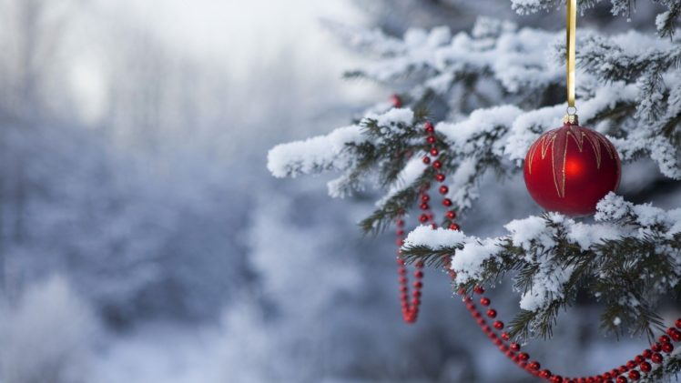 Christmas ornaments, Snow, Christmas HD Wallpaper Desktop Background