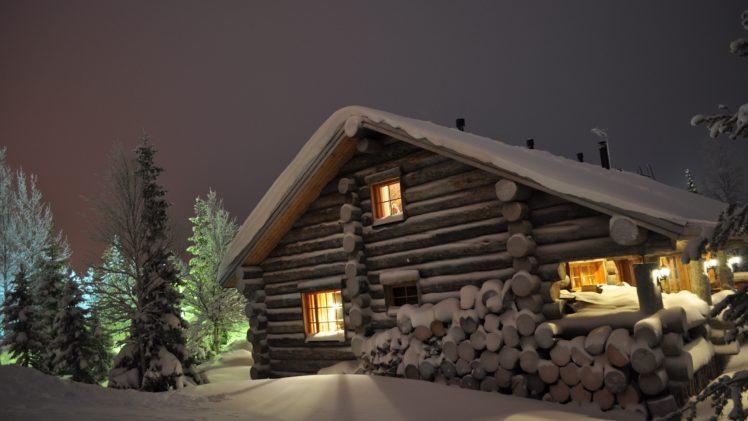 house, Landscape, Nature, Snow, Natural light, Photography, Cabin HD Wallpaper Desktop Background