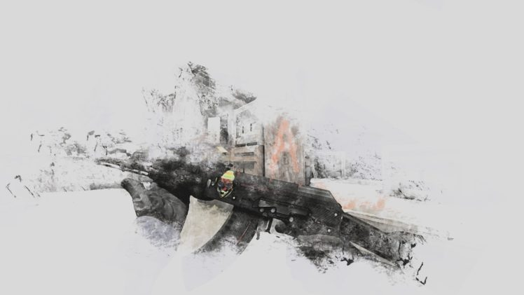 Counter Strike: Global Offensive, Minimalism, AK 47 HD Wallpaper Desktop Background