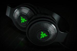 Razer, Headphones, Glowing, 3D, Razer Kraken