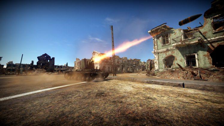 Video Games War Thunder KV 2 Tank Russian Army HD Wallpaper Desktop