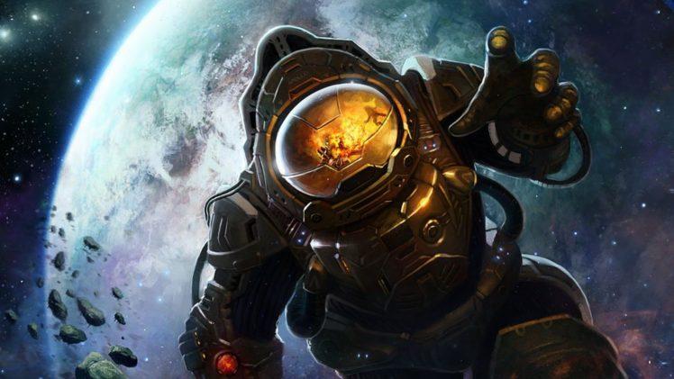 astronaut, Fantasy art HD Wallpaper Desktop Background