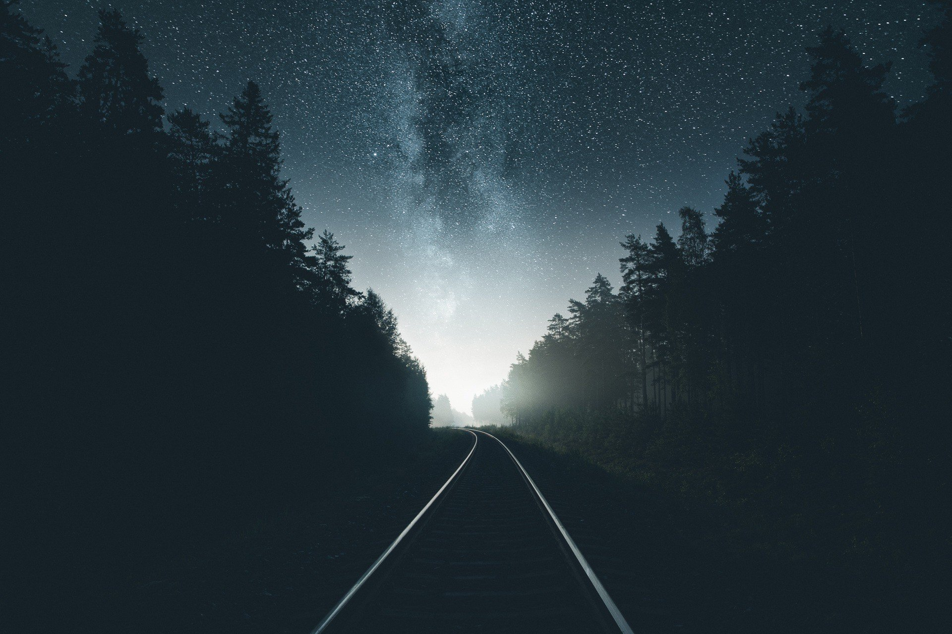 photography railway night forest hd wallpapers desktop and