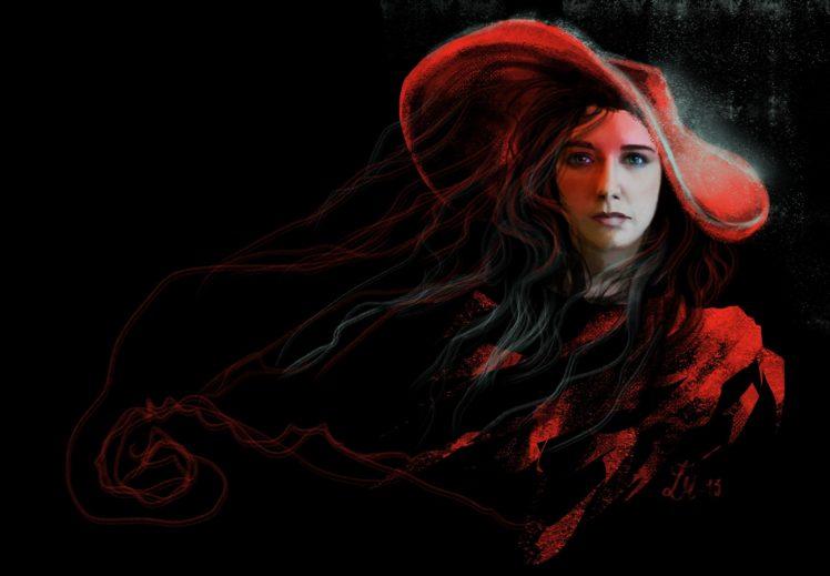 women, Traditional art, Painting, Red HD Wallpaper Desktop Background