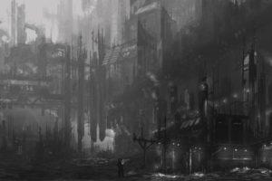 futuristic, Dystopian, Gray