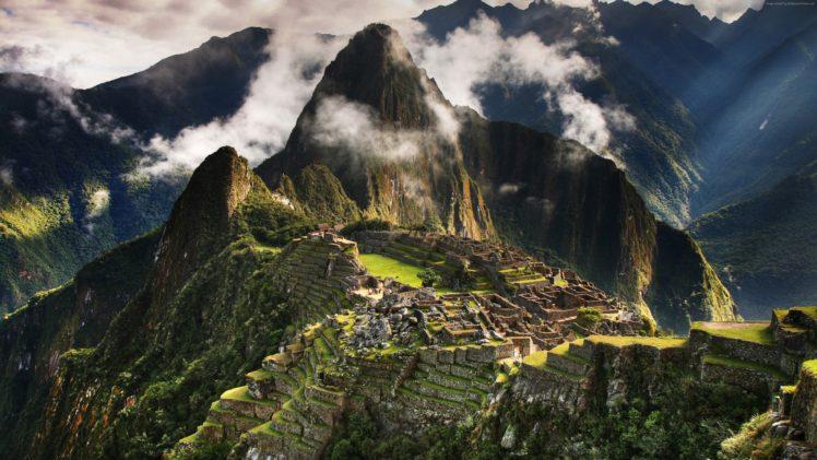 Machu Picchu, Nature, Clouds, HDR, Mountains HD Wallpaper Desktop Background