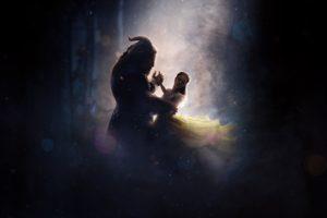 women, Minotaur, Dancing, Yellow dress, Mythology, Beauty and the Beast