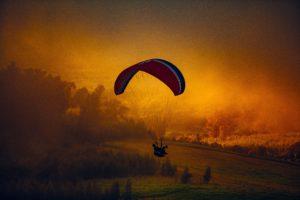 nature, Landscape, Parachutes