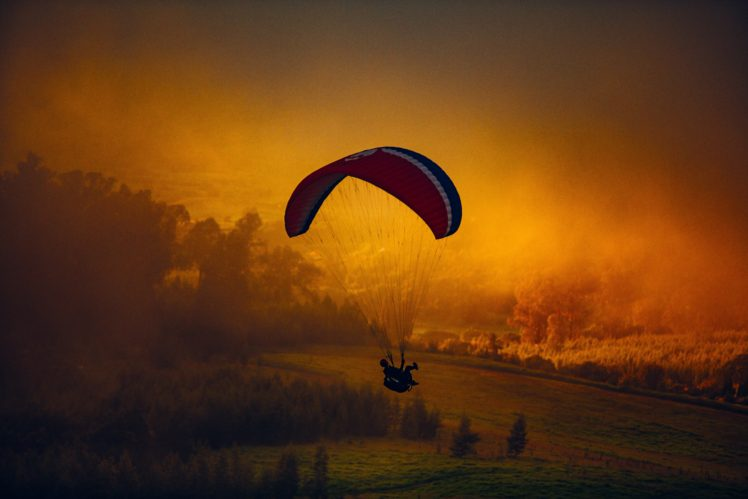 nature, Landscape, Parachutes HD Wallpaper Desktop Background