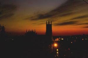 sunset, Photography, Tower