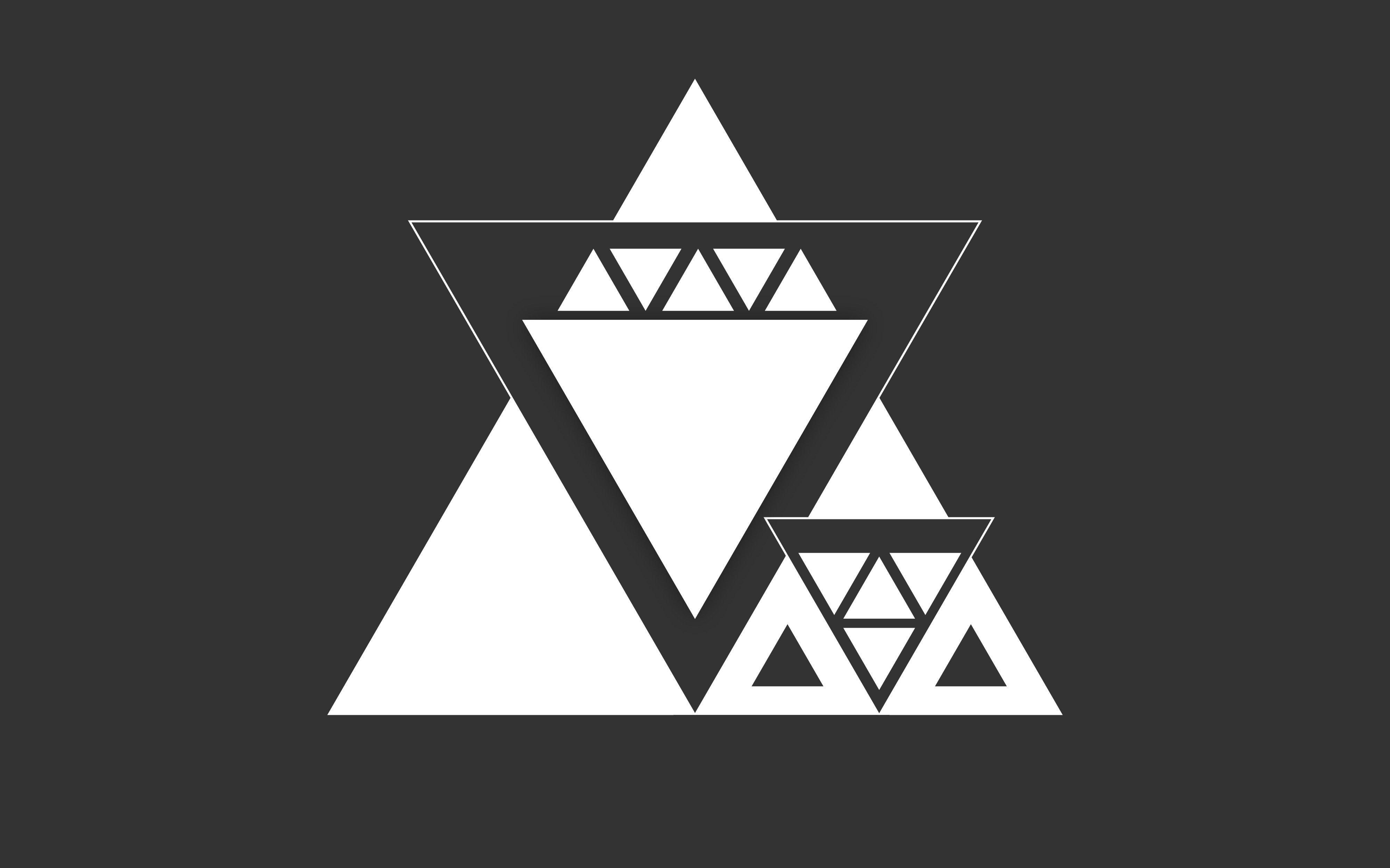 Triangle vector monochrome minimalism graphic design for Minimal art vector