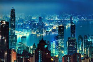Hong Kong, Nighscape, Landscape, Cityscape