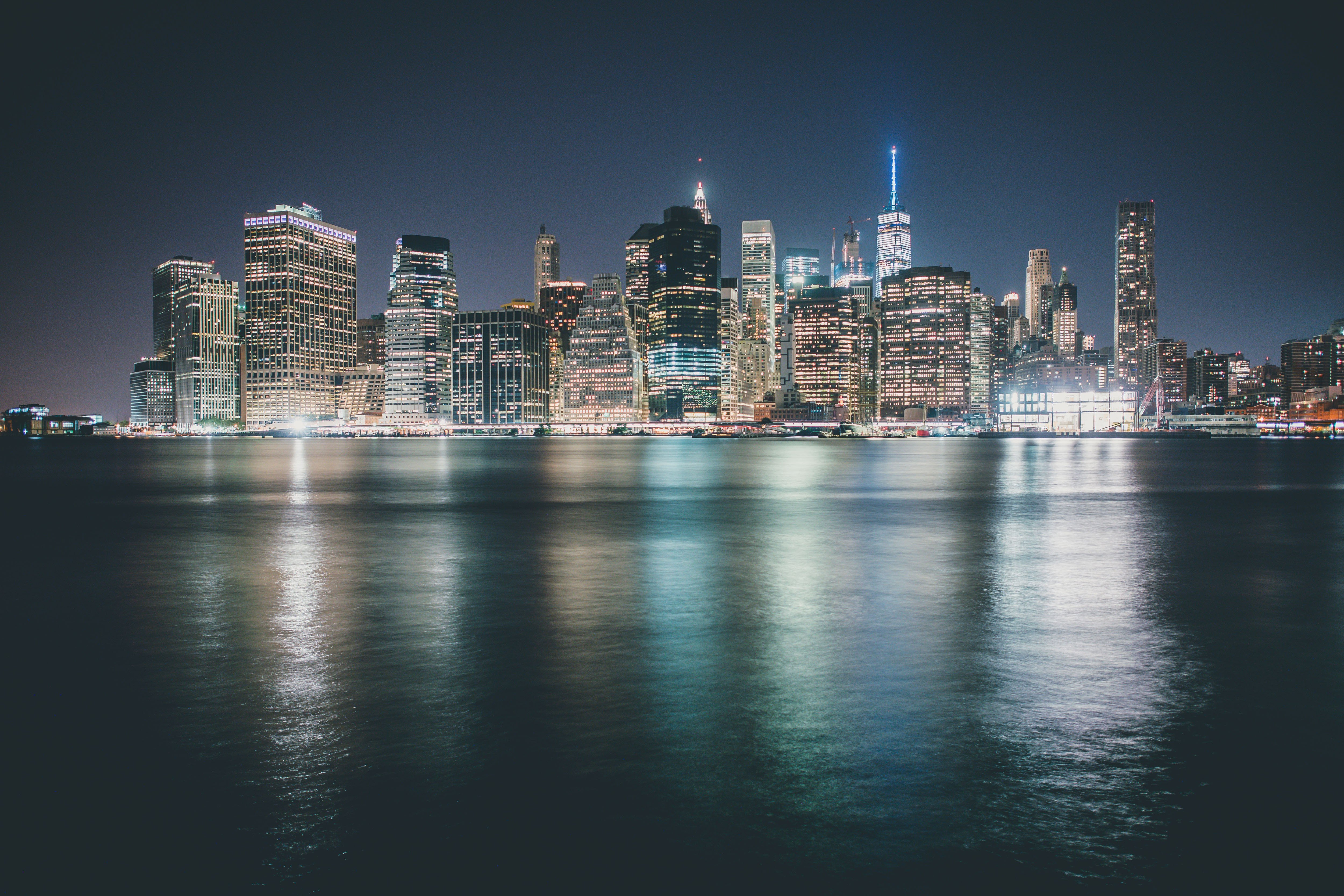 City Lights Cityscape Night Water Hd Wallpapers Desktop And Mobile Images Amp Photos