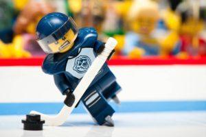 LEGO, Ice hockey, NHL, Puck, Hockey, Skates, Ice, Rink, Hockey stick, Visors