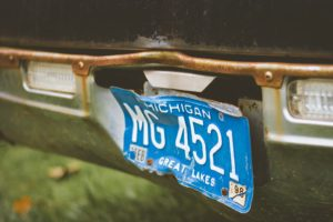 Michigan, Licence plates, Old car