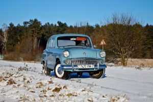 winter, Snow, Car, Vehicle, Blue cars, Moskvich, Russian cars