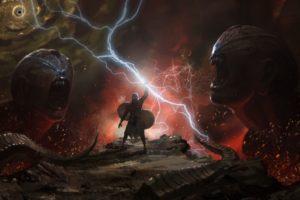 fantasy art, Lightning