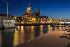 Amsterdam, Cityscape, Night