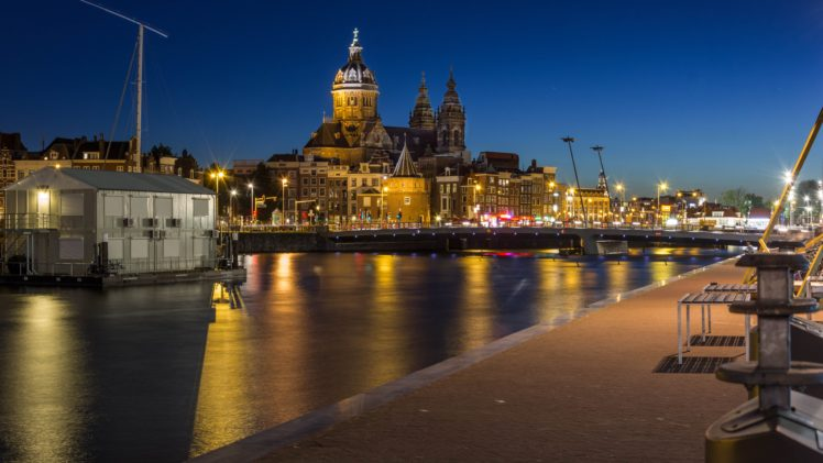 Amsterdam, Cityscape, Night HD Wallpaper Desktop Background