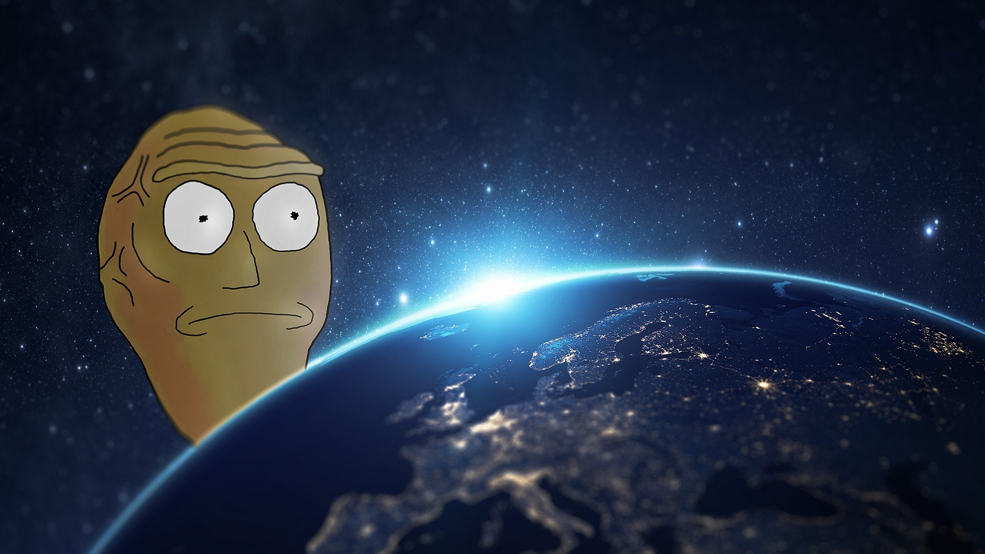Rick And Morty Cartoon Earth Hd Wallpapers Desktop And Mobile