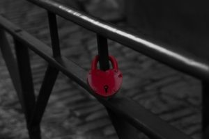 heart, Red, Lock, Selective coloring