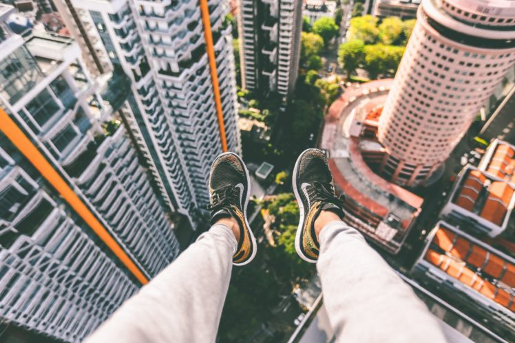 shoes, Cityscape, Aerial view HD Wallpaper Desktop Background