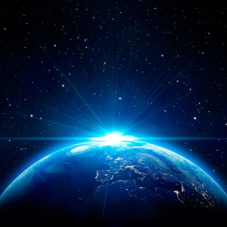 Earth, Space, Stars, Sunrise HD Wallpaper Desktop Background