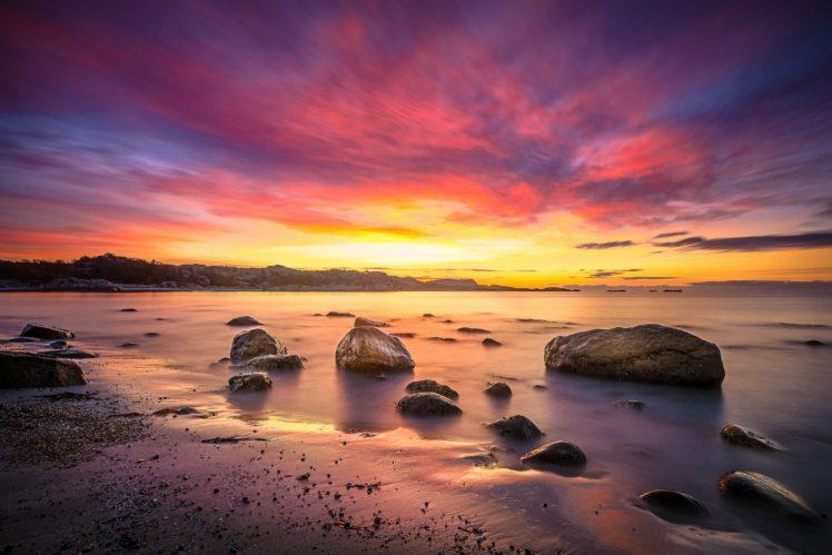 sunset, Clouds HD Wallpaper Desktop Background