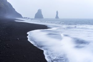 shore, Black sand