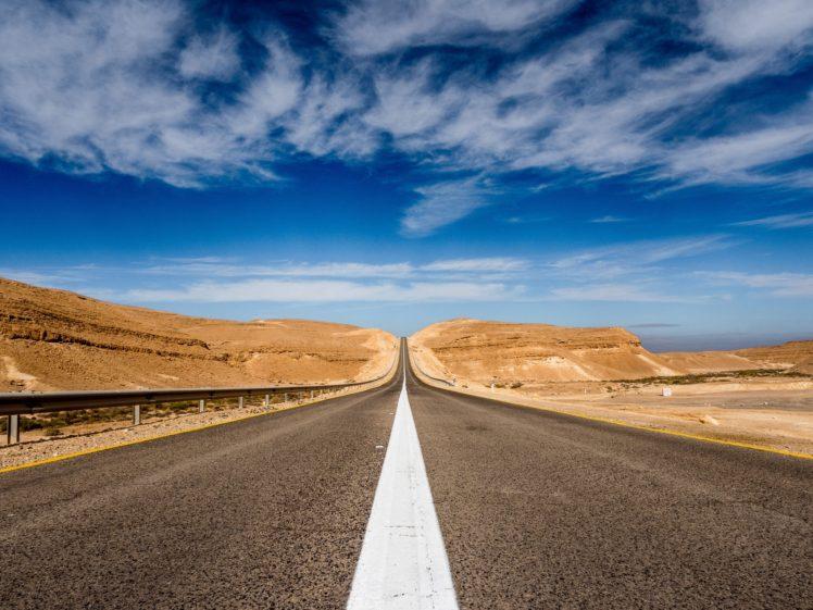 road, Desert HD Wallpaper Desktop Background